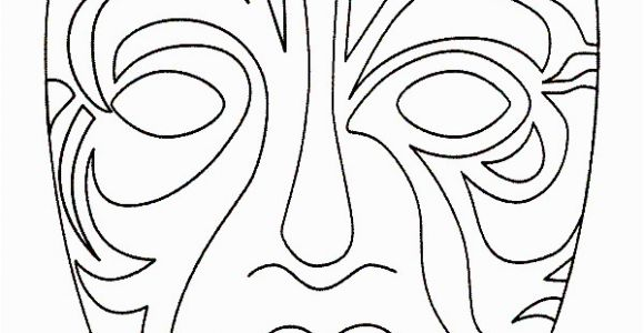 Coloring Pages Carnival Masks Masks 999 Coloring Pages Fonts & Printables