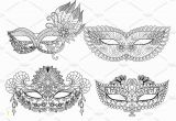 Coloring Pages Carnival Masks Pin by Mvbqfv On Invitations & Stationery Illustration