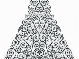 Coloring Pages Christmas ornaments Printable Floral Christmas Tree Coloring Page See the Category to Find