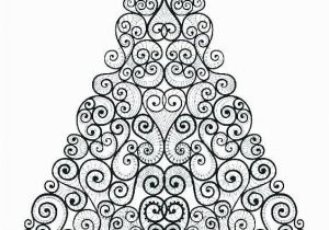 Coloring Pages Christmas Tree Printable Floral Christmas Tree Coloring Page See the Category to Find
