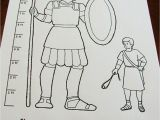 Coloring Pages David and Goliath Printable Scripture Heroes Story Of David and Goliath with Images