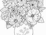 Coloring Pages Detailed Food Coloring Flowers Best Cool Vases Flower Vase Coloring Page