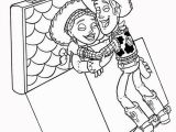 Coloring Pages Disney toy Story Woody and Jessie