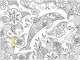 Coloring Pages Dolphins Dolphins Coloring Pages for Adults
