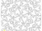 Coloring Pages for A Quilt Swirling Hearts 8t Block
