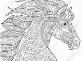 Coloring Pages for Adults Animals Coloring Pages for Adults Mustang Horse Adult Coloring