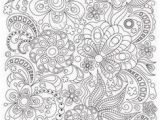 Coloring Pages for Adults Flowers Zentangle Art Coloring Page for Adults Printable Doodle