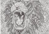Coloring Pages for Adults Zentangle Lion Abstract Doodle Zentangle Coloring Pages Colouring