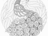 Coloring Pages for Adults Zentangle Peacock In Zentangle Style Adult Antistress Coloring Page