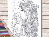 Coloring Pages for Copic Markers Printed Coloring Pages for Adults or Kids Fairy Mermaid
