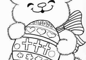Coloring Pages for Easter Bunny Catholic Easter Bunny Coloring Page