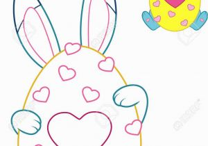 Coloring Pages for Easter Bunny Easter Bunny with Colored Outline for Coloring Page