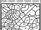 Coloring Pages for First Grade Color by Code Sight Words Primer Season Bundle Sight Word