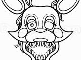 Coloring Pages for Five Nights at Freddy S Mangle Color Page