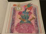 Coloring Pages for Gel Pens Finished Coloring Steampunk Fashion Girl Colored Pencils