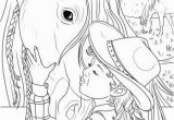Coloring Pages for Girls Horses Girl and A Horse