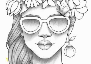 Coloring Pages for Girls Pdf Adult Coloring Page Girl Portrait and Clothes Colouring