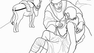 "Coloring Pages for Good Samaritan A Coloring Page for Children Of ""the Good Samaritan"" From"