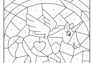 Coloring Pages for Grade 4 Free Printable Magical Unicorn Colour by Numbers Activity for Kids