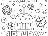 Coloring Pages for Happy Birthday Coloring Page Vector Illustration Stock Vector