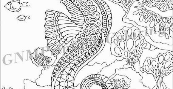 Coloring Pages for Intermediate Students Seahorse Pdf Zentangle Coloring Page therapy Coloring