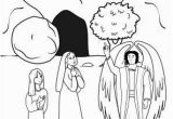 Coloring Pages for Jesus Resurrection Women Encounter An Angel at Jesus tomb Coloring Page with