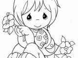 Coloring Pages for Little Girls Little Girl Holding A Flower Con Imágenes