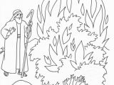 Coloring Pages for Moses and the Burning Bush the Call Of Moses Colouring Pages