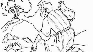 Coloring Pages for Moses and the Burning Bush the Incredible Moses Burning Bush Coloring Page to Encourage