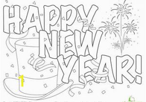 Coloring Pages for New Years 2015 Festive New Year Hat Coloring Page