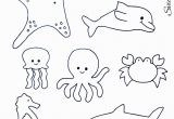Coloring Pages for Ocean Animals Ocean Animals Sea Animals Template with Images