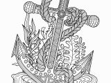 Coloring Pages for Older Adults Anchor Sea Coloring Page