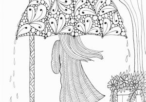 Coloring Pages for Older Students Umbrella Girl