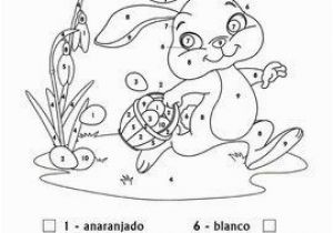 Coloring Pages for Spanish Class Spanish Easter Spanish Colors Color by Number Easter Bunny
