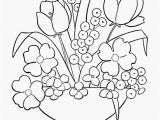 Coloring Pages for Spring Flower Color Pages Spring Flowers Coloring Printout Spring Day