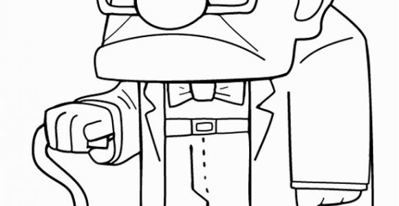 Coloring Pages for Up Movie Grumpy Grandpa From the Movie Up Colour Sheet with Images