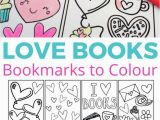 Coloring Pages for Valentines Cards Love Books Free Colouring Bookmarks