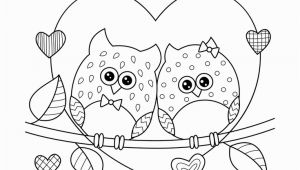 Coloring Pages for Valentines Day Cards Ausmalbilder Eulen In Liebe Mit Herzen • Kostenloses Ebook