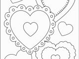 Coloring Pages for Valentines Day Cards Hearts with Images