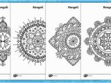 Coloring Pages for Visually Impaired Rangoli Colouring Pages Teacher Made