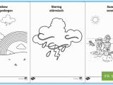 Coloring Pages for Weather Symbols Weekly Weather Recording Chart Activity English German