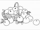 Coloring Pages for Young Learners Basket Full Of Fresh Apple Fruits Free Coloring Pages