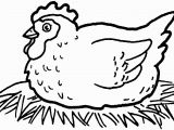 Coloring Pages Free Printable Rooster Hen Coloring Page