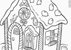 Coloring Pages Gingerbread House Christmas House Coloring Bedandbreakfastitaliafo