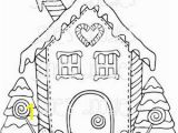 Coloring Pages Gingerbread Houses Printable Gingerbread House