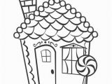Coloring Pages Gingerbread Houses Printable Unusual Gingerbread House Coloring Pages