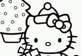 Coloring Pages Hello Kitty Christmas Dibujo De Hello Kitty De Navidad Para Colorear with Images