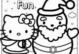 Coloring Pages Hello Kitty Christmas Happy Holidays Hello Kitty Coloring Page
