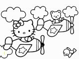 Coloring Pages Hello Kitty Plane Hello Kitty Info Coloring Home