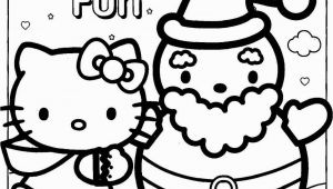 Coloring Pages Hello Kitty Printable Happy Holidays Hello Kitty Coloring Page